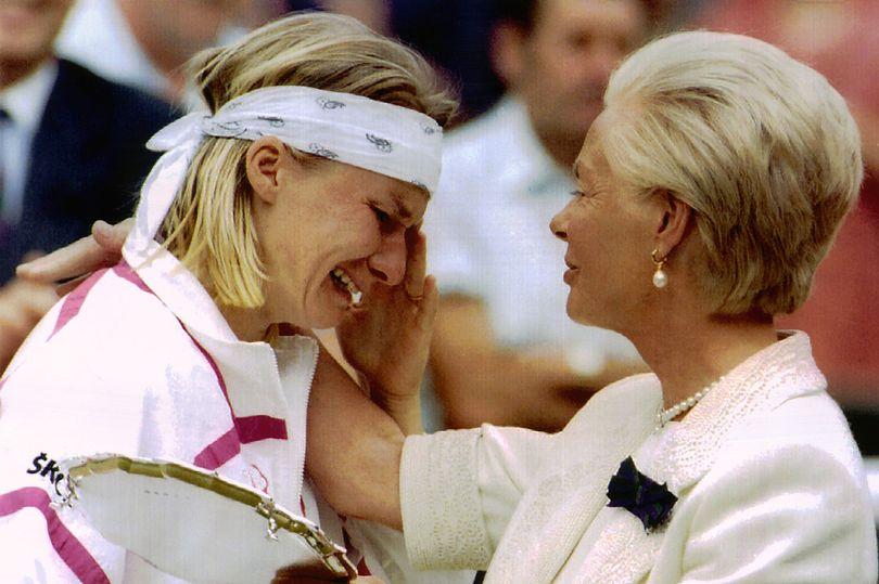 Jana Novotná po finále Wimbledonu 1993